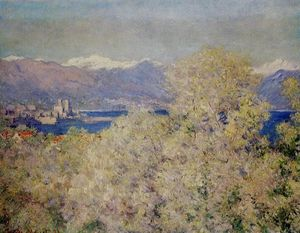 Claude Monet - Antibes - Visto do Salis Jardins