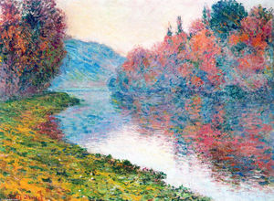 Claude Monet - margens do sena em jenfosse - claro clima