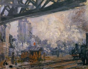 Claude Monet - vista exterior do Saint-Lazare Estação
