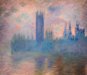 Claude Monet - casas do parlamento , Westminster