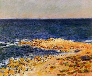 Claude Monet - o 'Big Blue' em antibes ( aka the seat em antibes )
