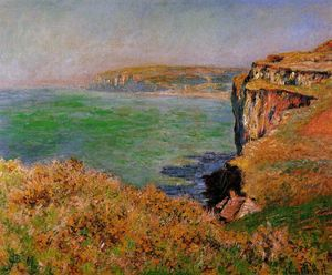 Claude Monet - The Cliff em Varengeville