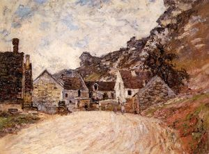 Claude Monet - O Hamlet de Chantemesie ao pé do Rochedo