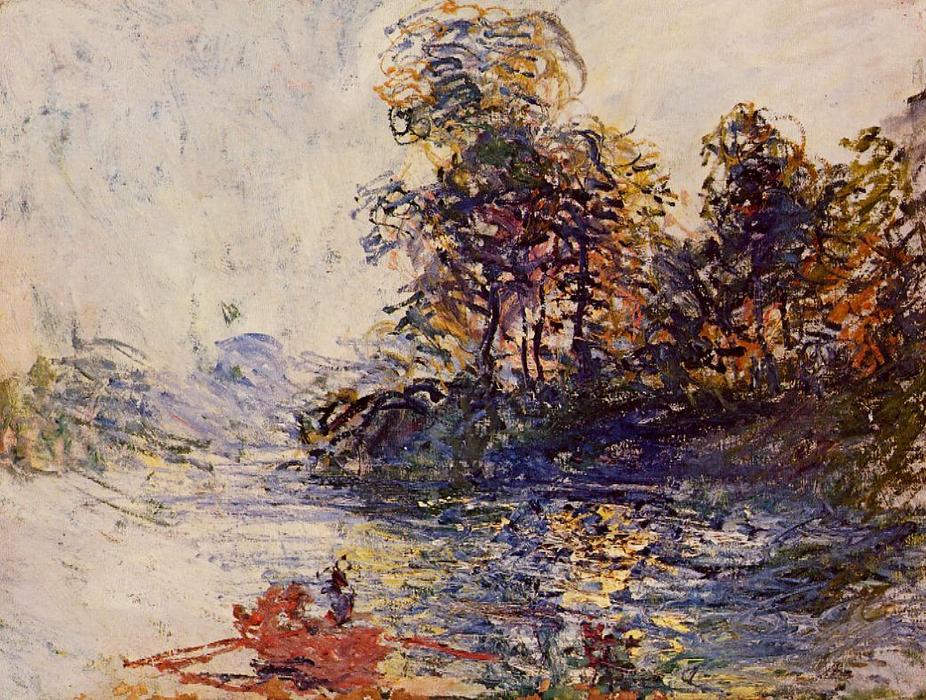 o rio, 1881 por Claude Monet (1840-1926, France)