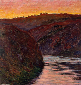 Claude Monet - vale de o `creuse` Do-sol