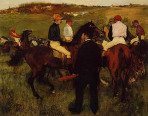 Edgar Degas - Fora do Paddock