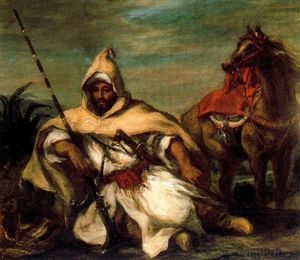 Eugène Delacroix - Um marroquino da Guarda do Sultão