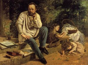 Gustave Courbet - Retrato of P . -J . Proudhon` em 1853