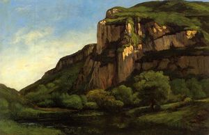 Gustave Courbet - Rochas no Mouthier