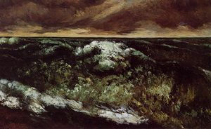Gustave Courbet - O mar irritado
