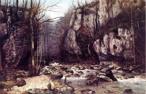 Gustave Courbet - A Corrente do Puits Noir em Ornans