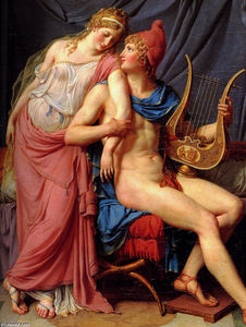 Jacques Louis David - O namoro de Paris e Helen Detalhe  1