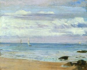 James Abbott Mcneill Whistler - azul e prata . Trouville