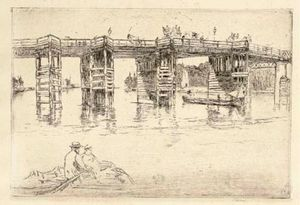James Abbott Mcneill Whistler - Putney Bridge Old