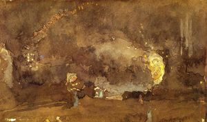 James Abbott Mcneill Whistler - o fogo roda