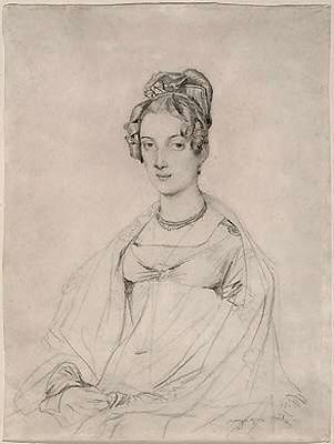 Mrs. Edward Dodwell por Jean Auguste Dominique Ingres (1780-1867, France) | WahooArt.com