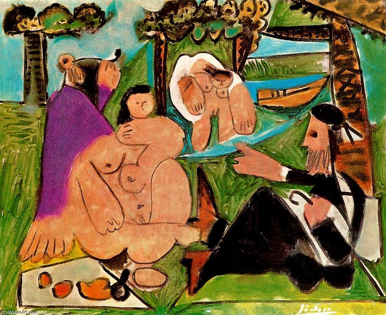 piquenique 5   por Pablo Picasso (1881-1973, Spain) |  | WahooArt.com
