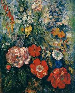 Paul Cezanne - bouquet de flores