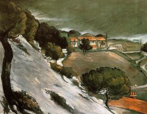 Paul Cezanne - L Estaque sob a neve