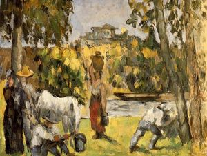 Paul Cezanne - vida no campos