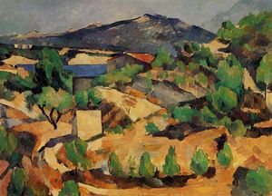 Paul Cezanne - Montanhas vistos de L Estaque