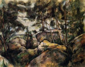 Paul Cezanne - Rochas no Fountainebleau