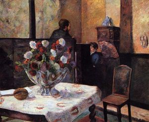 Paul Gauguin - Interior do Painter-s Casa , arruda Carcel