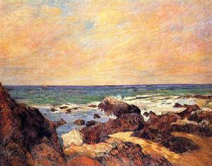 Paul Gauguin - rochas e mar
