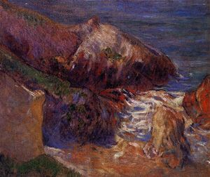 Paul Gauguin - rochas à costa