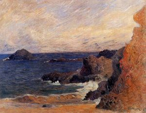 Paul Gauguin - rochoso costa