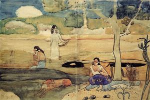 Paul Gauguin - do tahiti cena