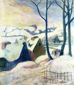 Paul Gauguin - aldeia no neve