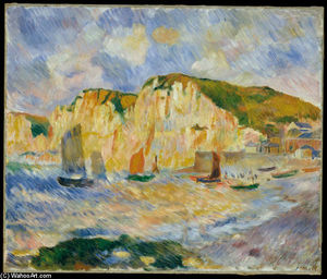 Pierre-Auguste Renoir - Mar e Cliffs