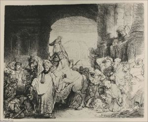 Rembrandt Van Rijn - The Triumph of Mordacai