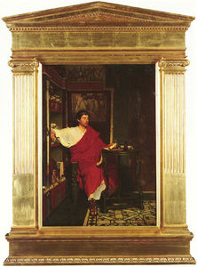 Lawrence Alma-Tadema - A Roman escrevente escrita Dispatches