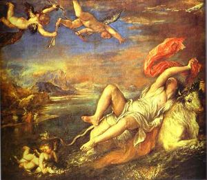 Tiziano Vecellio (Titian) - The Rape of Europa