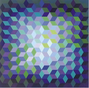 Victor Vasarely - Abstrato 15