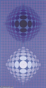 Victor Vasarely - Abstrato 16