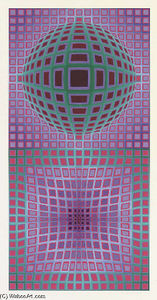 Victor Vasarely - Abstrato 9