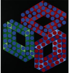 Victor Vasarely - OSLOP-X-2