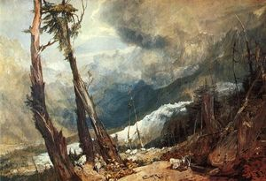 William Turner - Geleira e Fonte do Arveron, subindo para o Mer de Glace