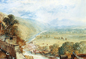 William Turner - Ingleborough do terraço do Hornby Castelo