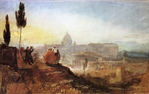 William Turner - Em roma . Primeiro . Peter's do Vila Barberini