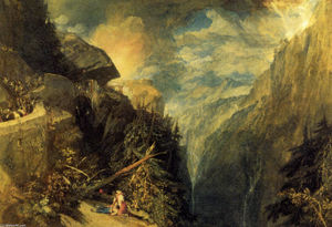 William Turner - a batalha de fort rock , Val d'Aoste , Piedmont