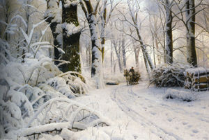 Peder Mork Monsted - floresta no inverno