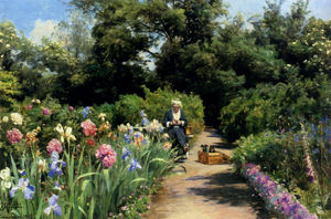 Peder Mork Monsted - Confecção de malhas In The Garden