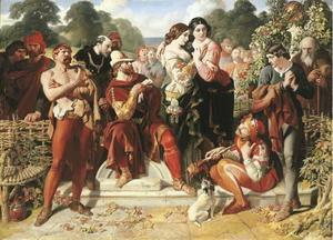 Daniel Maclise - A cena Wrestling em As You Like It