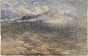 David Cox - montanha heights , cader idris