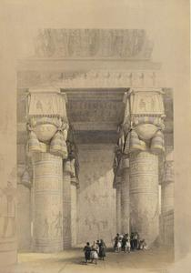 David Roberts - view from under the portico do templo de dendera
