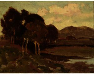 Eanger Irving Couse - Arborizada Colina